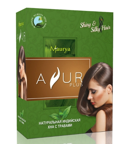 Косметика и гигиена. Натуральная индийская хна с травами AYUR Plus (100 г)