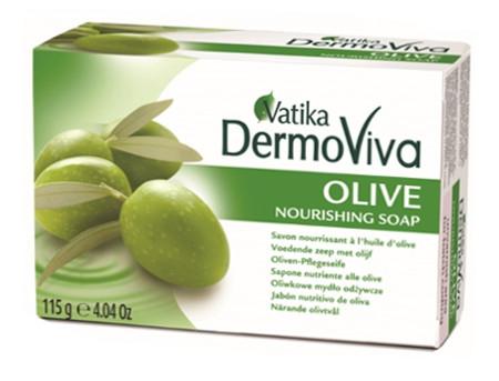 """Косметика и гигиена. Мыло """"Vatika DermoViva Naturals Olive"""""""