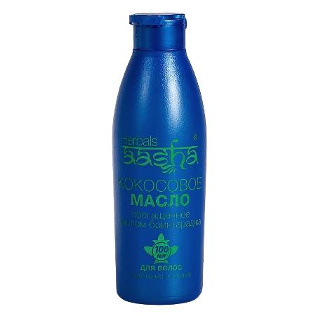 Косметика и гигиена. Кокосовое масло обогащенное маслом Брингараджа Herbals AASHA (100 мл)
