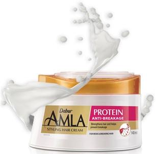 Косметика и гигиена. Крем для укладки волос Dabur Amla Protein