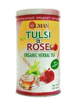 Здоровое питание. Чай тулси с розой