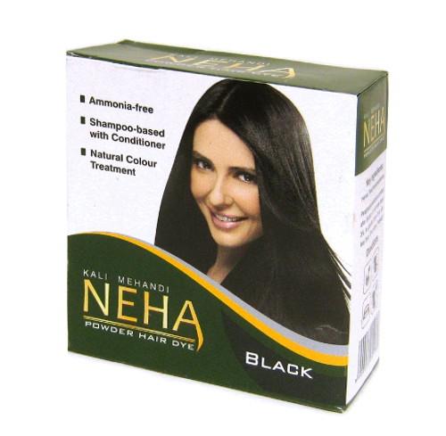 Косметика и гигиена. Хна для волос черная (Neha Natural Hair Colour Soft Black) 50 г