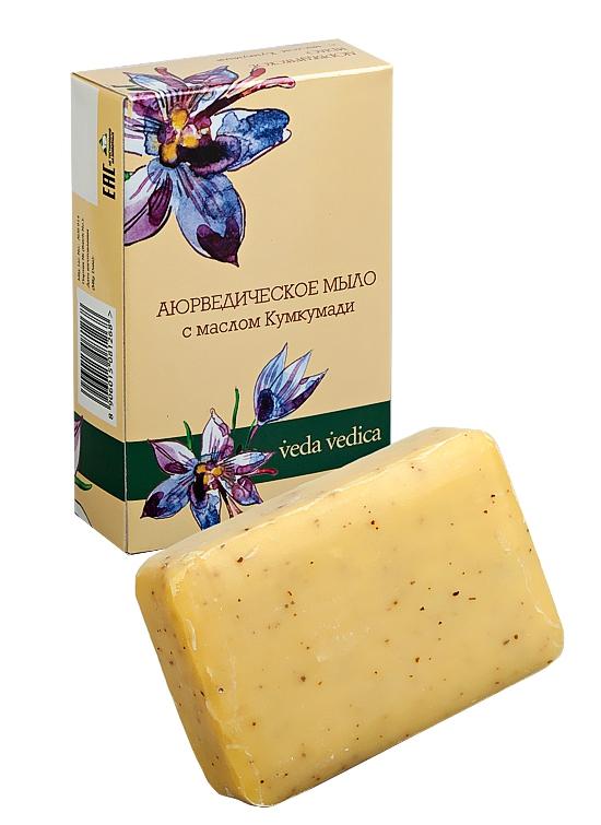 Косметика и гигиена. Аюрведическое мыло с маслом Кумкумади Veda Vedica