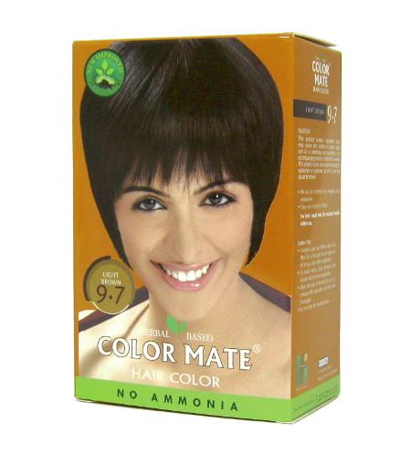 Косметика и гигиена. Краска для волос Color Mate Hair Color (тон 9.7, светло-коричневый)