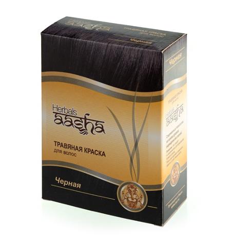 Косметика и гигиена. Травяная краска для волос Herbals AASHA (Черная)