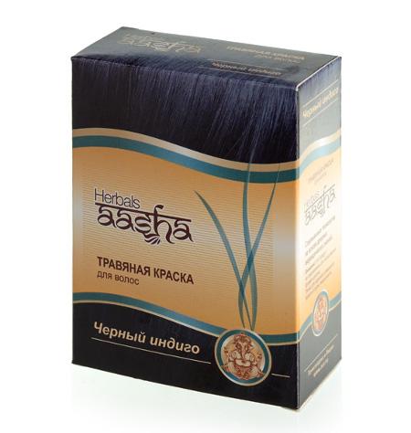 Косметика и гигиена. Травяная краска для волос Herbals AASHA (Черный индиго)