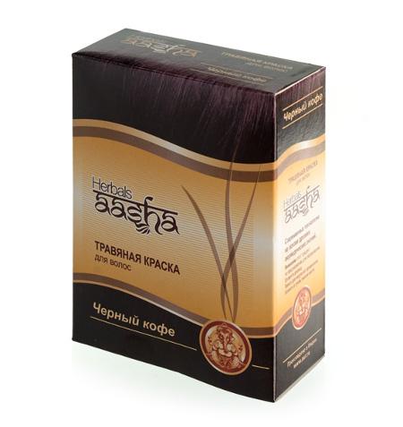 Косметика и гигиена. Травяная краска для волос Herbals AASHA (Черный кофе)