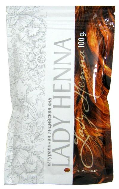 Косметика и гигиена. Натуральная индийская хна Lady Henna (коричневая)