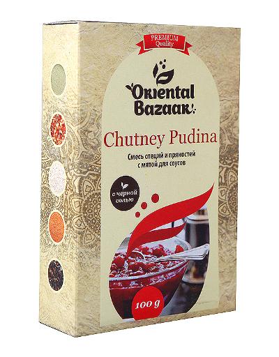 Здоровое питание. Смесь специй и пряностей с мятой для соусов Chutney Pudina