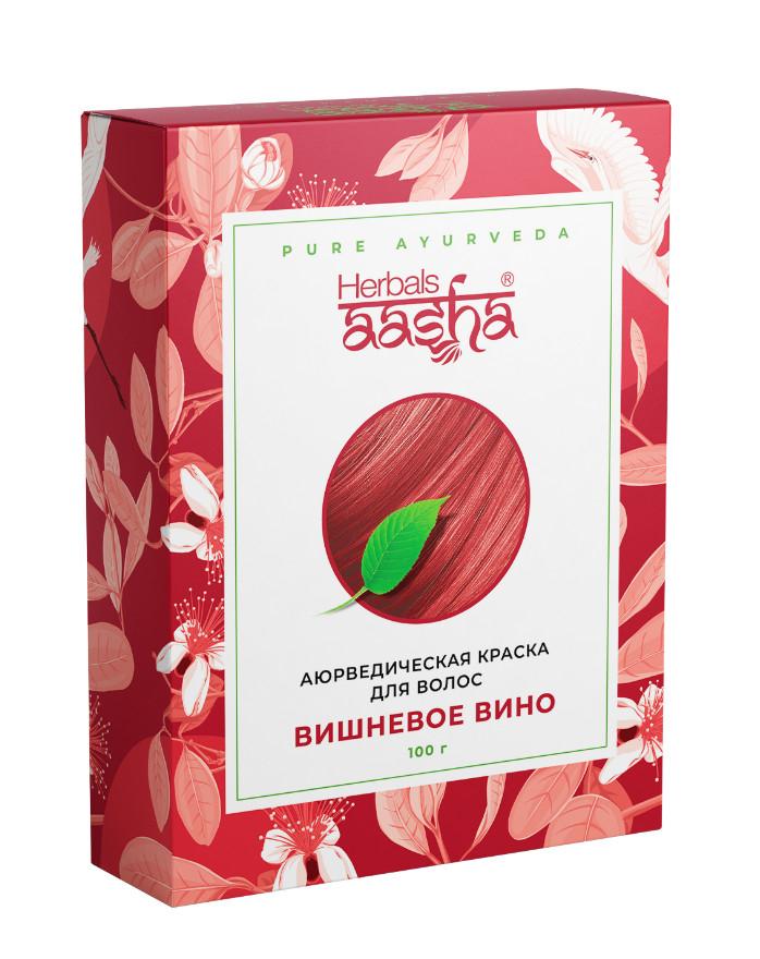 Косметика и гигиена. Аюрведическая краска для волос Herbals AASHA (Вишневое вино)