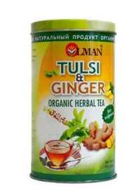 OLMAN organic Herbal tea Tulsi and Guncer (Чай Тулси с Имбирем) 100 г.