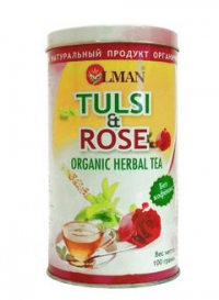 OLMAN organic Herbal tea Tulsi and Rose (Чай Тулси с Розой) 100 г.