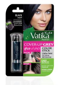 Краска для волос (Карандаш) Vatika Naturals Cover-Up Grey Colour Stick — Black for Women (черная) 4 г.