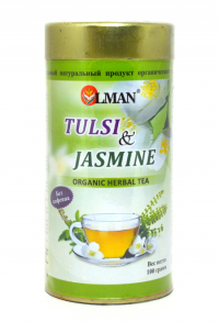 OLMAN organic Herbal tea Tulsi and Jasmine (Чай Тулси с Жасмином) 100 г.